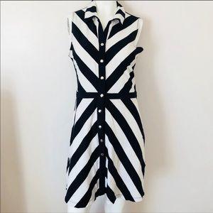 New York & company Black & White sleeveless dress